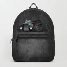 Hot Custom Black Street Rod Coupe Backpack