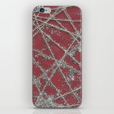 Sparkle Net Red iPhone Skin