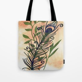 Watercolor Feather And Flora Tote Bag