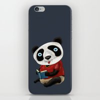 panda iPhone & iPod Skins featuring Panda by gunberk