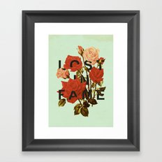 Lost In Fame Framed Art Print