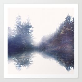 Serene reflections Art Print