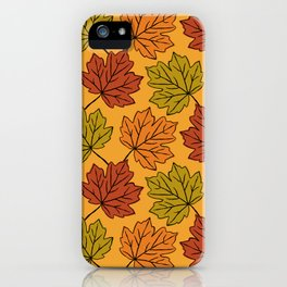 Maple Leaves Pattern iPhone Case