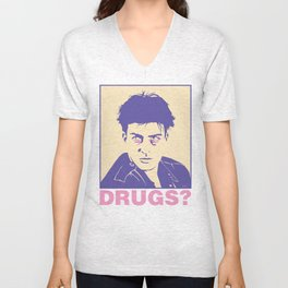 DRUGS? Unisex V-Neck