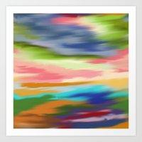 Sunrise Digital Oil Pastel Painting Art Print