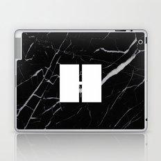 Black Marble - Alphabet H Laptop & iPad Skin
