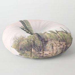 Blush Sky Cactus Floor Pillow