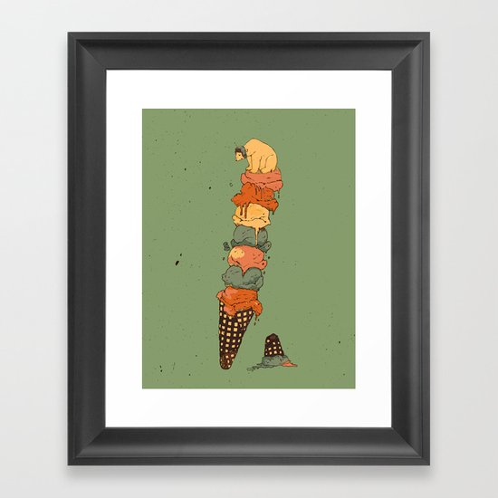 The Arctic Ice Cream Framed Art Print