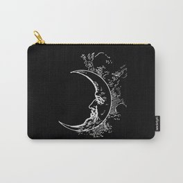 Man On Moon Crescent Moon Carry-All Pouch