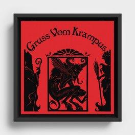 Gruss Vom Krampus Framed Canvas