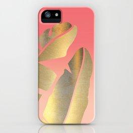 Shining Banana Leaves iPhone Case