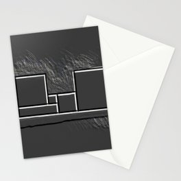 Parallel black white lines No. 03 Stationery Cards