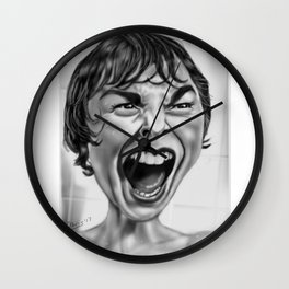 Marion Pycho Scream Wall Clock
