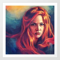 amy pond Art Prints featuring Amy Pond by Alice X. Zhang