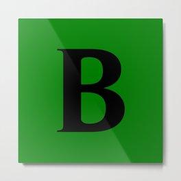 B MONOGRAM (BLACK & GREEN) Metal Print