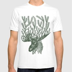 Moose-fir Mens Fitted Tee White MEDIUM