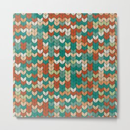 Knitted colors Metal Print