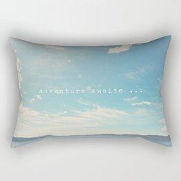 adventure awaits ... Rectangular Pillow