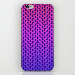 Rick Rack Pink Ombre iPhone Skin
