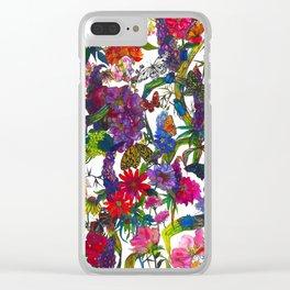 Botanical Butterflies Clear iPhone Case