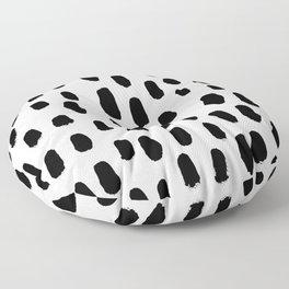 Spots black and white minimal dots pattern basic nursery home decor patterns Floor Pillow