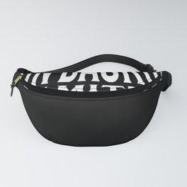 No Backup? No Pity! Gift Design Motif Fanny Pack