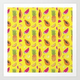 Frutas Tropicales Art Print