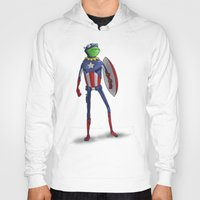 kermit Hoodies featuring Captain Kermit by Matthew Bartlett