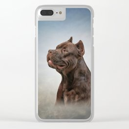 American Staffordshire Terrier 5 Clear iPhone Case