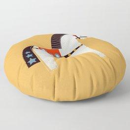Festive Pony - illustration Floor Pillow