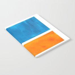 Colorful Jewel Tones Blue Gold Color Block Minimalist Watercolor Art Modern Simple Shapes Notebook