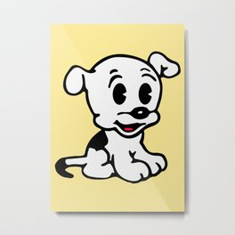 Pudgy, Mrs Boop Puppy companion, Design for Wall Art, Prints, Posters, Tshirts, Men, Women, Kids Metal Print