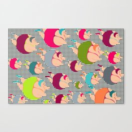 Synchronised Spotty Swimmers Canvas Print