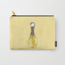 J'adore on Yellow Carry-All Pouch