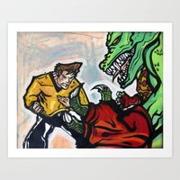 Battle at the Arena Art Print