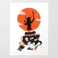 Samurai Sushi Art Print
