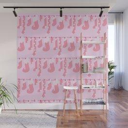 Holiday Socks in Sugar Plum Fairy Wall Mural