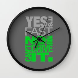 Yes it's fast No you can't drive it v4 HQvector Wall Clock