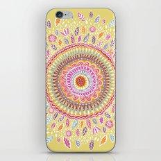 Yellow Sunflower Mandala iPhone Skin