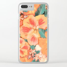 Aloha Orange Sherbet Clear iPhone Case