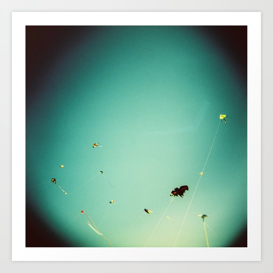 kites in the sky Art Print