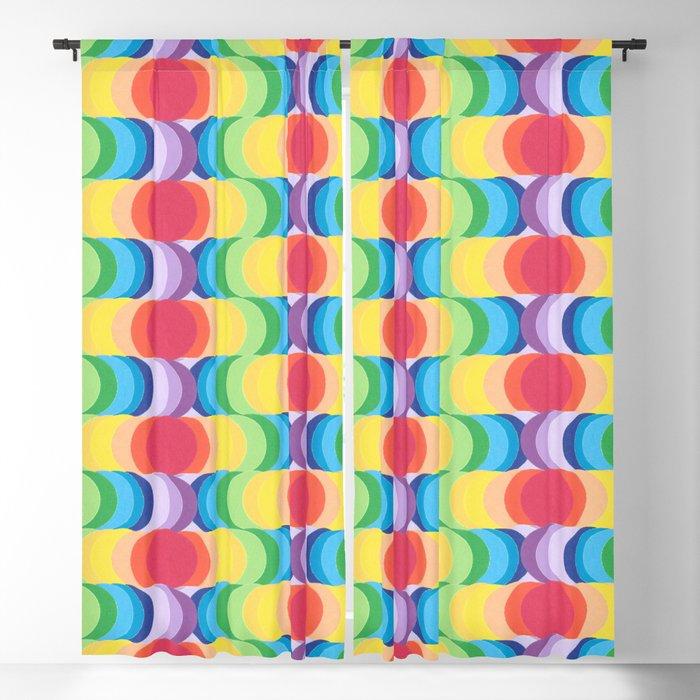 Rainbow Dragon Scales 2 Blackout Curtain
