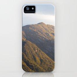 Lake Como Hills at Sunset iPhone Case