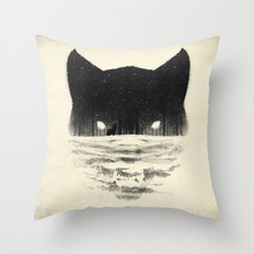 Wolfy Throw Pillow