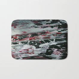 Black Pearl Abstract Ship At Night | Black and White Abstract | Corbin Henry Bath Mat