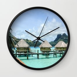 Tahitian Paradise View Wall Clock
