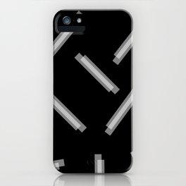 LINA ((white on black)) iPhone Case