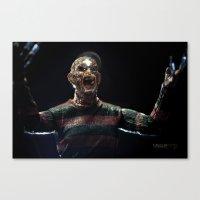 freddy krueger Canvas Prints featuring Freddy Krueger by TJAguilar Photos