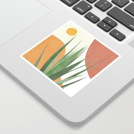 Abstract Agave Plant Sticker