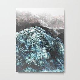 Wavey Mountains Metal Print